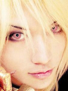 العين العدسات اللاصقة للجنسين حزب التجميل تأثيري الملونة الأحمر دائرة ماكياج دائرة عدسة