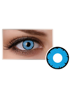 العين الزرقاء العدسات اللاصقة التجميل تأثيري حزب الملونة دائرة عدسة