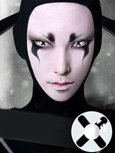 Lentes de contato Cosplay Branco e preto Cross Unisex Costume Accessories