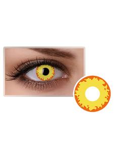 الأصفر النار العين العدسات اللاصقة التجميل تأثيري حزب الملونة دائرة عدسة