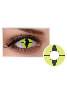 Cosmetic Cosplay Party Unisex Green Makeup Circle Lens