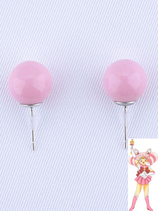 Carnevale Sailor Moon Small Lady Accessorio Cosplay orecchini a bottone di resina Anime Giapponese