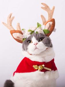 القط زي عيد الميلاد الغزلان أغطية الرأس هالوين