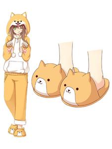 Тапочки Kawaii Anime Shiba Inu Kawaii Flannel Тапочки
