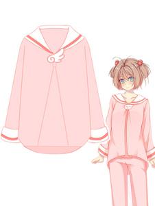木之本桜 カードキャプターさくら アニメパジャマ 日本アニメ コットン 女性用 ピンク