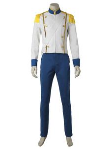 王子 ディズニーカートゥーン コスプレコスチューム ハロウィン 肩紐 ホワイト
