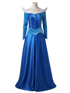 ディズニーカートゥ ハロウィン コスプレコスチューム ブルー ドレス