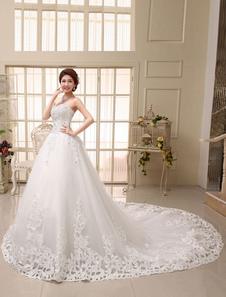 Свадебное платье из шифона и атласного переплетения из шифона и атласного переплетения