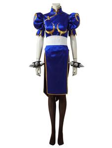 Уличный истребитель Chunli Halloween Cosplay Costume
