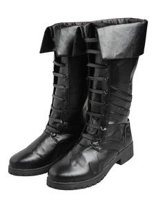 Street Fighter Cosplay Sapatos para mulher de poliuretano PU calçado