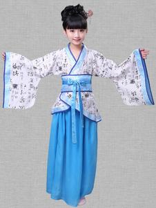 Disfraz de niños Carnaval Halloween chino con estampado para chica Disfraz Carnaval