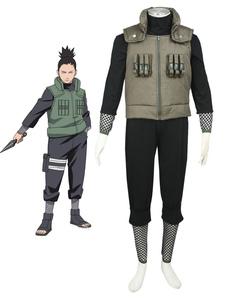 Traje de cosplay de Halloween de Naruto Nara Shikamaru Adulto