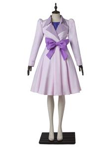 Carnaval Disfraz de Pretty Curede color lila con lazo&con Top&con crinolina&con abrigo&con falda