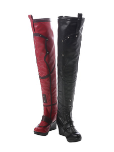Batman Arkham City Harley Quinn Halloween Cosplay Shoes