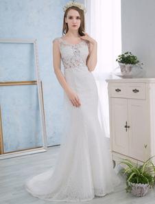 Свадебные платья из слоновой кости Платья из русалки с длинным рукавом с длинным рукавом