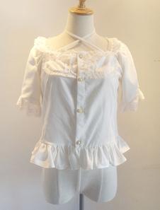 Blusa de gasa con mangas cortas de Lolita Sweet Top