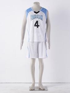 Kuroko No Basketball Kuroko no Basket para homem Anime Japonês Poliéster-algodão conjunto branca