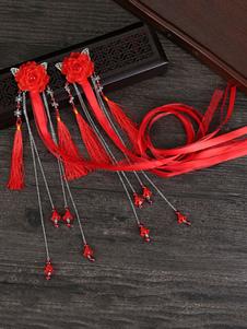 Lolita Copricapo di Stile cinese di poliestere casuale monocolore