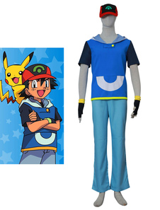 Carnaval Pocket Monster Pokemon Go Ash Ketchum Disfraz / Traje de Cosplay