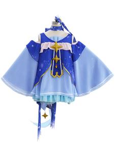 Disfraz Carnaval Vocaloid Snow Miku 2017 Star and Snow Chiffon Cosplay de Halloween Carnaval