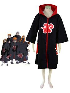 Disfraz Carnaval Naruto Akatsuki Cloak Disfraz de Halloween Cosplay Carnaval