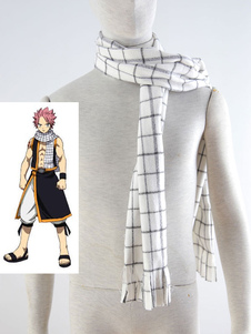 Fairy Tail Natsu Dragneel Cosplay White Scarf