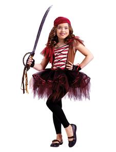 海賊衣装ハロウィンキッズディープブラウンドレスリトルガールズコスチューム衣装