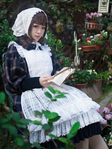 Sweet Lolita Apron Infanta Sugar и Matcha Lace Ruffle White Lolita Pinafore