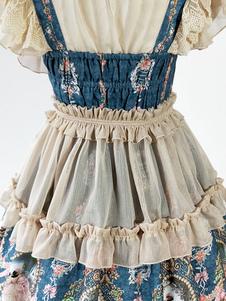 Braccialetti Lolita dolci accessori monocolore bianco écru accessori Tea party pieghettature