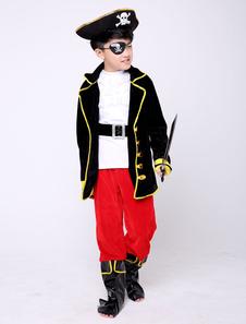 海賊衣装キッズハロウィンブラックボーイズコスチューム衣装