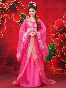 ارتفع الصينية زي الإناث التقليدية الشيفون النساء Hanfu اللباس القديمة تانغ سلالة الملابس 3 قطع