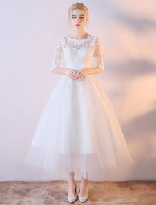 Короткие свадебные платья Белое платье с капюшоном