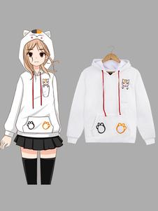 Carnevale Felpa con cappuccio giapponese Anime Hoodie Kawaii Cat