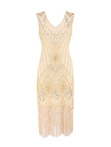 1920-х годов мода костюм костюм заслонки великий гэтсби винтажные кисточки платье без рукавов чарльстон хэллоуин