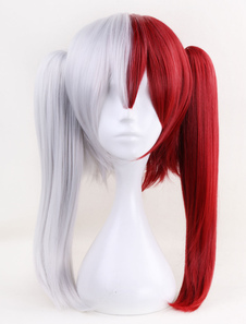 Boku No Hero Academia Shoto Todoroki Girl Версия BNHA Halloween Cosplay Wig