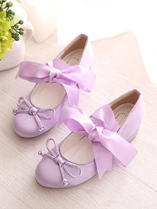 الحلو لوليتا أحذية الباليه القوس Strappy التعادل لوليتا مضخات