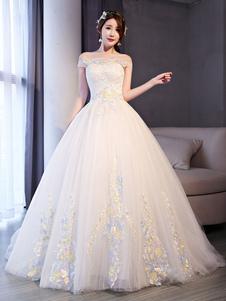 Свадебные платья из шифона для принцессы с кружевами