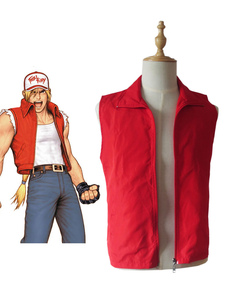 Carnaval The King Of Fighters KOF Fatal Fury Terry Bogard Chaqueta Cosplay Chaleco
