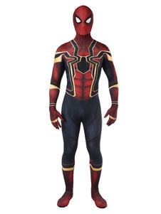 Avengers3 Infinity War Человек-паук Питер Паркер Хэллоуин Косплей Костюм