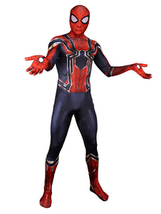 Carnaval Avengers 3 Infinity War Capitán Spiderman Peter Parker Cosplay Lycra Spandex Jumpsuit