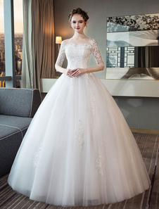 Принцесса Свадебное платье из слоновой кости Платье с коротким рукавом с капюшоном