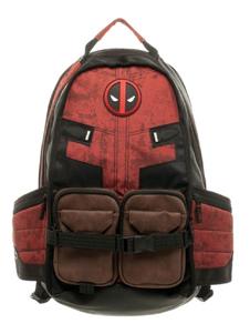 Deadpool Backpack Marvel Comics Film Черный PU Рюкзак