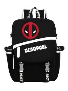 Deadpool Backpack Marvel Comicsムービーブラックナイロンバックパック