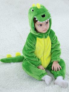 الديناصور زي الأطفال الصغار الطفل الأخضر الحيوان الفانيلا حللا هالوين