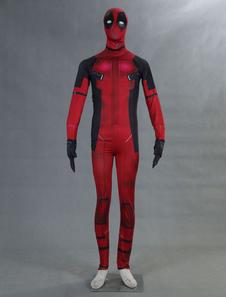 Carnaval Deadpool Cosplay Costum Marvel Super Hero Lycra Spandex Zentai