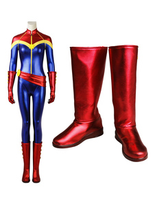 Captain Marvel Ms Marvel Kara Danvers Halloween Cosplay Shoes
