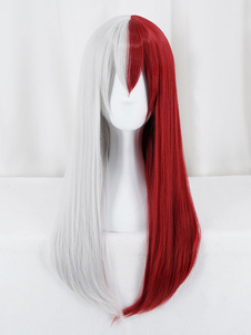Boku No Hero Academia Todoroki Shouto Женская версия Хэллоуин BNHA Cosplay Wig