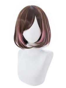 Виртуальный YouTuber Kizuna AI Halloween Cosplay Wig Short Wig