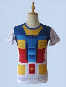 Мобильный костюм Gundam RX-78-2 Хэллоуин Косплей Футболка Летняя рубашка