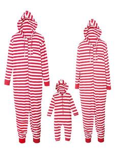 الأسرة منامة مطابقة عيد الميلاد للأطفال أحمر مقنع مقنع حللا للأطفال2020